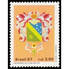 1552-SELO CENT. CLUBE MILITAR - 87 - MINT